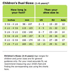 Children S Dual Size Foot Chart Baby Shoes Clogs