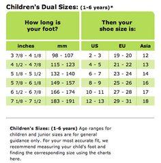 womens shoe size chart | Women's Foot Size Chart | Charts and Info ...