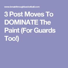 3 Post Moves To DOMINATE The Paint (For Guards Too!)