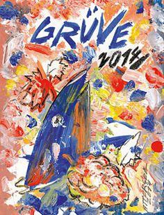 GRÜVE Etikett christian ludwig attersee Ludwig, Austria, Comic Books, Comics, Painting, Art, Wine, Art Background, Comic Strips