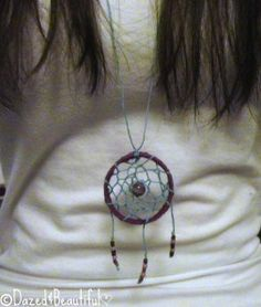 DIY Dreamcatcher Necklace • Free tutorial with pictures on how to make a dream catcher pendant in under 60 minutes