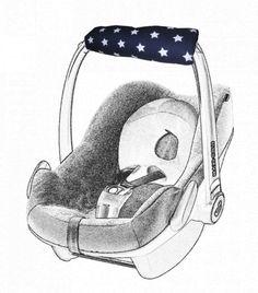 Armpolster Für Babyschale - Maxi Cosi - Sterne von me Kinderkleidung und ersatzbezuege auf DaWanda.com