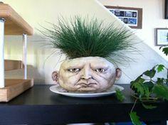 Head Pots (Pot Heads?) by ceramicist Ben Belknap