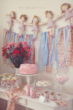 Shabby Chic Baby Shower Ideas | Items used in this party available in Kara's Party Ideas Shop :