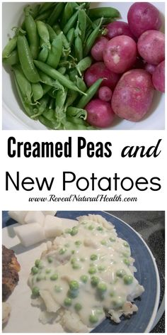The first batch of creamed peas & new potatoes from the garden was always a celebrated event growing up. This creamed peas recipe is sure to be a family favorite.