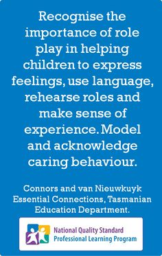 Recognise the importance of role play...