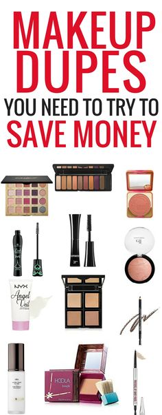 These amazing makeup dupes will save you tons of money while making you look great! I'm so glad I found these makeup dupes! Pinning this for sure!