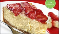 Truvia® Natural Sweetener - Cheesecake with Fresh Strawberry Topping Strawberry Topping, Strawberry Cakes, Strawberry Cheesecake, Cheesecake Recipes, Ricotta Cheesecake, Diabetic Desserts, Köstliche Desserts, Delicious Desserts, Diabetic Recipes