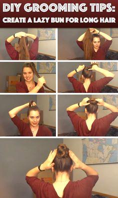 So kannst du schnell einen Haarknoten aus langen Haaren machen