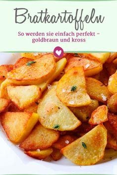 Die besten Tipps für knusprige Bratkartoffeln.