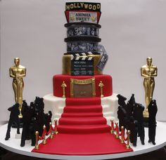 Bolo Oscar Hollywood 15 anos Sweet 15 Oscar Hollywood Cake with paparazzi