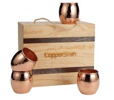 Designer hand hammered cups are perfect for making any occasion just a bit more special. Copper Decor, Copper Pots, Kitchen Items, Craftsman, Cups, Box, Gifts, Design, Artisan