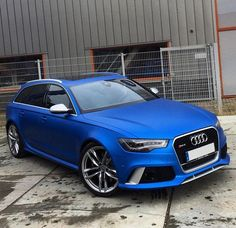 Satin blue Audi RS6 , Wrapped By JDCustoms
