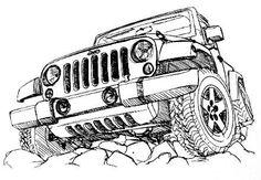 jeep pencil drawing | Art | Pinterest | Jeeps