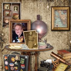 Vintage Collection Digital Scrapbooking Freebie and Collection on SALE