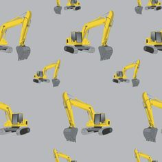 Excavators Grey - Fototapeter & Tapeter - Photowall