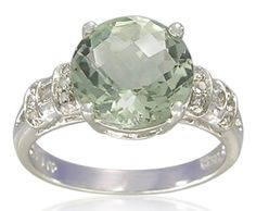 ❤ Sterling Silver Round-Shaped 10mm Semi Precious Stones Ring ❤