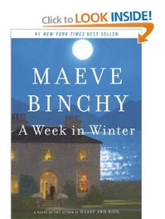 A Week in Winter by Maeve Binchy - lovely story of a woman who pursues her dream to create a bethany for others and those who visit during her first week. I loved all the characters and long to know how they fared in the months after their visit. Knowing this was Ms. Binchey's final book made the reading bittersweet. I will miss her gentle, heart-touching storytelling