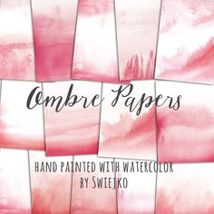 Ombre Watercolor Digital Paper hand painted by SwiejkoForPrint