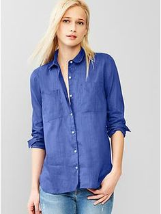 Ramie shirt - This semi-sheer, relaxed button-down was made using the lustrous and natural ramie vegetable fiber.