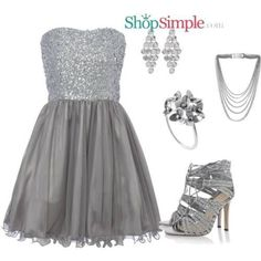 Image result for silver dress outfit