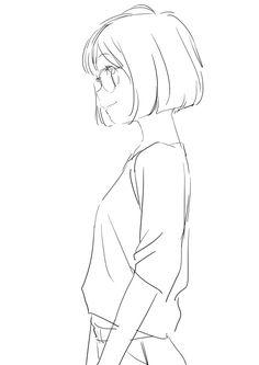 Anime Drawings Sketches, Pencil Art Drawings, Anime Sketch, Manga Drawing, Cute Drawings, Drawing Reference Poses, Drawing Poses, Anatomy Reference, Cartoon Kunst