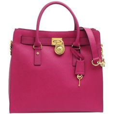 d1673a3ae66f Michael Kors Hamilton large leather bag ( 445) ❤ liked on Polyvore.
