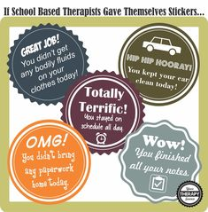 Therapy Stickers from www.YourTherapySource.com