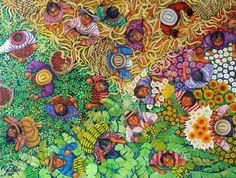 naive art   The Four Seasons by Lorenzo Cruz