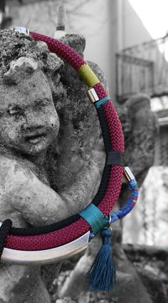 Gros plan collier esprit Etnic chic http://www.oz-mademoiselle.com/ https://www.facebook.com/ozmademoisellecreation