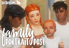 family portrait pose by ratboysims Sims Four, Sims 4 Mm Cc, Family Portrait Poses, Family Posing, The Sims, Prom Photography Poses, Children Photography, Sims 4 Toddler Clothes, Sims 4 Family
