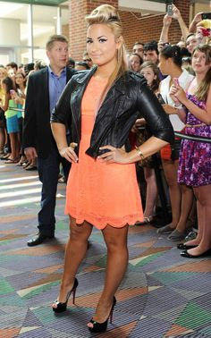 Demi Lovato's X Factor Style: July 8, 2012.  So cute! I love her style!