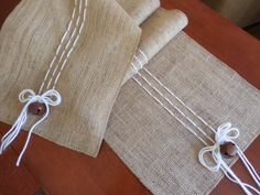 Christmas table runner rustic burlap table by DaniellesCorner, $28.00