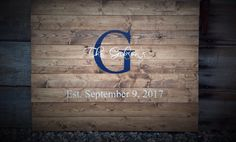 Large, Guest Book Sign, Established Sign, The ___ last name Sign, Rustic Sign, Rustic Decor, Rustic Wedding, initial & date, 1 custom color by SimplyMadeDesignsbyb on Etsy