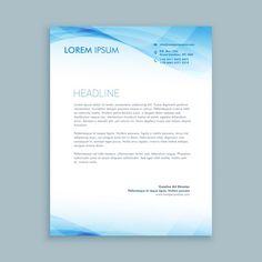 papel de carta onda de negócios Vetor grátis