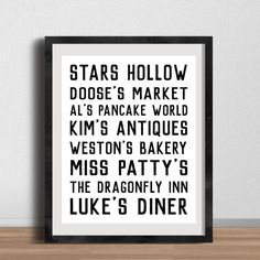 Stars Hollow places subway sign! Gilmore Girls poster :)