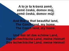 Kde domov můj. Česká hymna. Czech anthem. Tschechische Nationalhymne. (lyrics, text) - YouTube