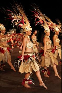 Costumes for Heiva I Tahiti can take up to 6 months to make!  French Polynesia