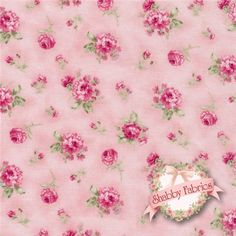 "$10.60/yd - Ellie Ann 1234-24 Petit Rose Rose By Eleanor Burns For Benartex: Ellie Ann is a collection by Eleanor Burns for Benartex.  100 % cotton.  43/44"" wide.  This fabric features small pink rose bouquets tossed on a pink background."