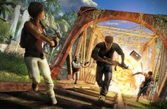 The following image has been taken from the Far Cry 3 video game. The image gave me high impact, intense feeling of fear when I looked upon it for the very first time. I quickly realized this image is located within a tropical destination as the colours from the natural surroundings burst into life and juxtapose against the chaos and destruction.