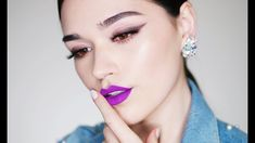 Smudged Liner and Violet Lips - YouTube