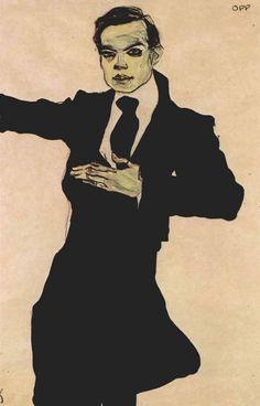 """ Der Maler Max Oppenheimer, 1910, Egon Schiele """