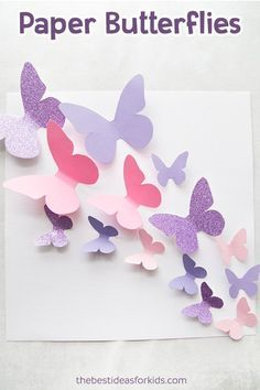 Get this free butterfly template to make a beautiful butterfly display! This paper butterfly craft is so fun to make! via template Butterfly Template Paper Butterfly Crafts, Diy Butterfly, Butterfly Template, Butterfly Wall Art, Paper Butterflies, Paper Flowers, Crown Template, Butterfly Mobile, Heart Template