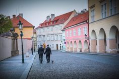Graham & Wayne post wedding portrait session in Prague by American Photographer Kurt Vinion. Post Wedding, Prague, Wedding Portraits, Street View, Mansions, American, House Styles, Graham, Travel