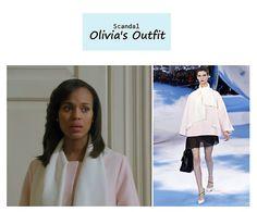 "On the blog: Olivia Pope's (Kerry Washington) light pink swing coat | Scandal - ""No Sun on the Horizon"" (Ep. 313) #tvstyle #tvfashion #outfits #fashion #gladiators"