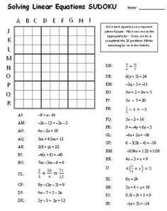 Equation Sudoku