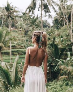 inspiration | travel | adventure | explore | vacation | trip | wanderlust | wild and free | distant places | palm trees | sky | sunshine | jungle | dress | summer | hair scarf |