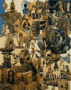Artistic Influence. Dada. Cut With The Dada Kitchen Knife, Hannah Höch, 1919
