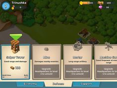 Boom Beach Items Store: screenshots, UI