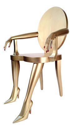 Modern Gold Titi Club Chair | Chairish